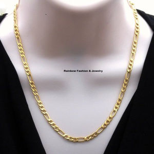 76 off Fashion Jewelry Jewelry 18k Gold Plated Italy 5mm Figaro